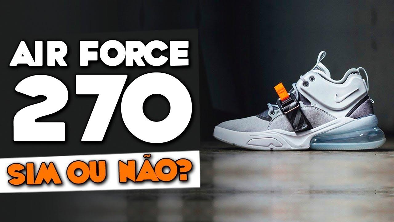 0293cc2ecf1 NIKE AIR FORCE 270  Vale a pena Comprar o Sneaker  - YouTube
