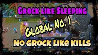 Grock Global No.1 Gameplay KDA 9/1/7 Mobile Legends