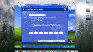 Attempting to activate Windows XP in August 2017