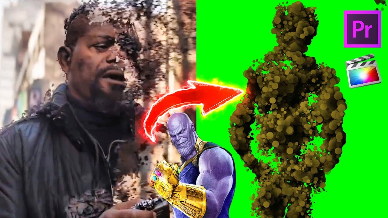 Avengers: THANOS Disintegration Effect Green Screen (DRAG & DROP , NO  PLUGINS)