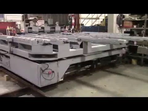 Titan 153353 45,000 lb capacity Bi-Directional Die Change Rail Car at Test Facility