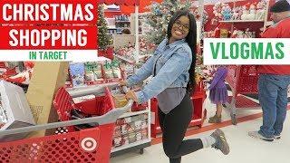 CHRISTMAS SHOPPING AT TARGET!! | VLOGMAS DAY 1