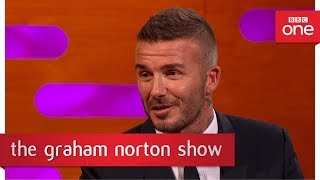 The awkward moment when David Beckham's kid got tackled  - The Graham Norton Show
