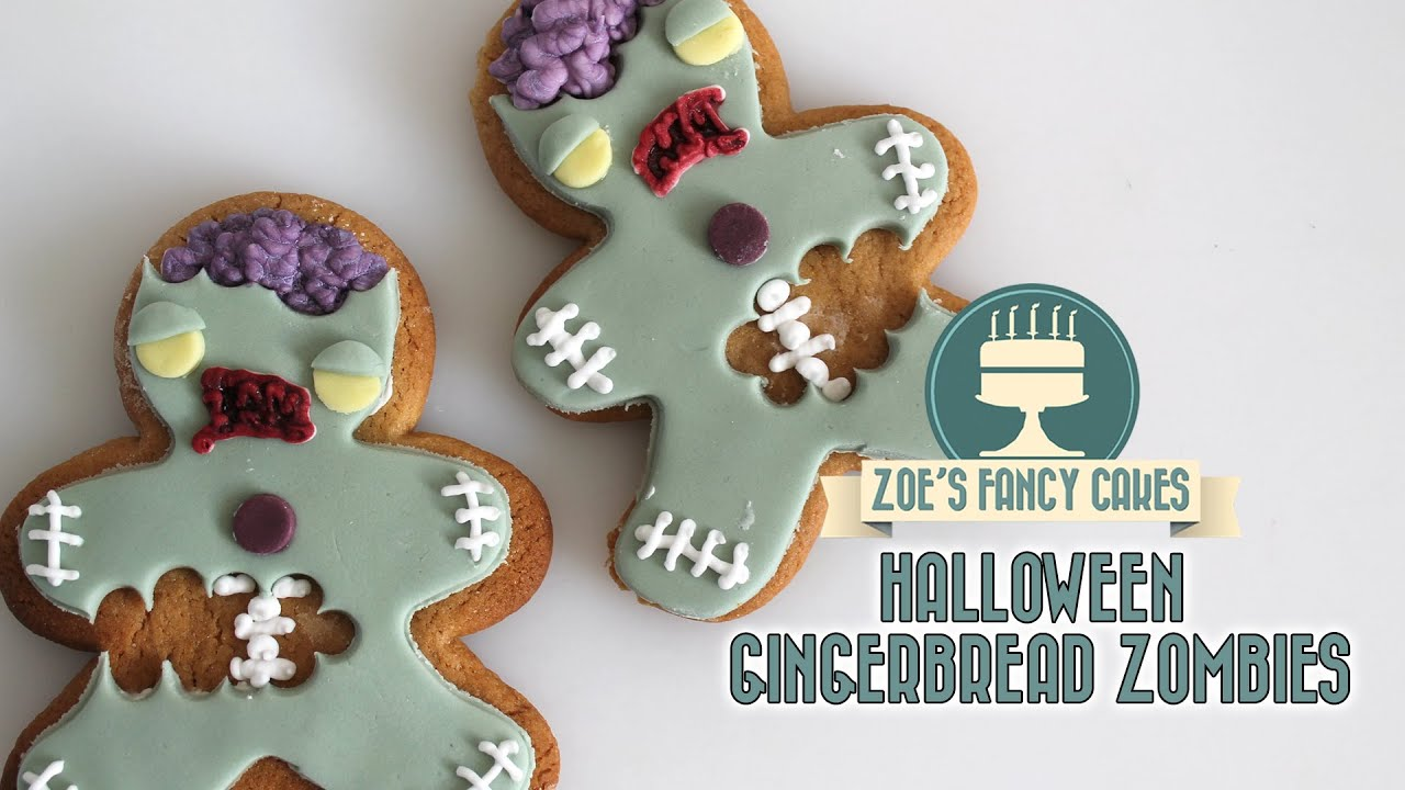 zombie gingerbread men cookies youtube - Halloween Gingerbread Cookies