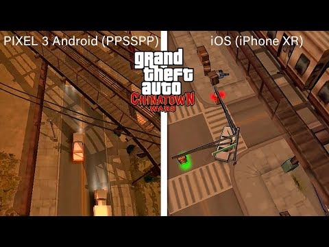 GTA: Chinatown Wars - IOS VS PIXEL 3 Android (PPSSPP Version) - Graphics Comparison