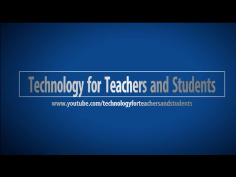 Technology for Teachers and Students Channel Trailer