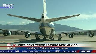 PRESIDENTIAL TAKE OFF: President Trump Leaves New Mexico - AIR FORCE ONE