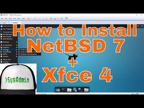 How to Install NetBSD 7 + XFCE 4 Desktop + Apps + VMware Tools on VMware Workstation Tutorial [HD]