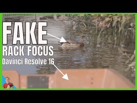Make Easy Fake Rack Focus using Davinci Resolve 16