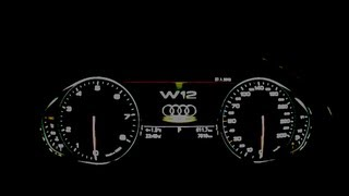 audi a8 l w12 tacho 0 270 km h kickdown flatout test it