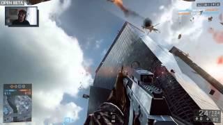 BF4 beta pl skytower jump , skok z wiezowca