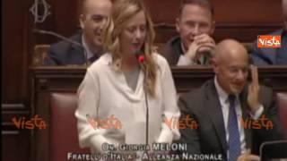"""Siparietto Meloni Boldrini: """"Presidente, sono l'unica che si chiama deputata?"""""""
