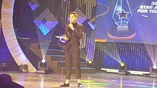ALDEN RICHARDS tinanggap ang award ni MAINE MENDOZA sa 32nd PMPC Star Awards for TV