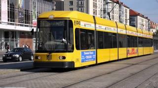 Трамвай в Дрездене. Германия.