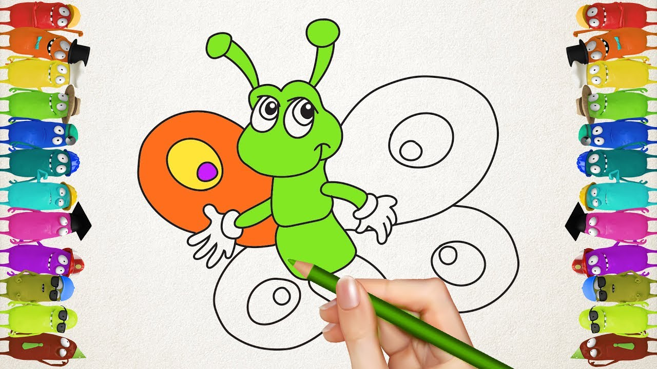 drawing and colouring butterflies coloring book for kids how