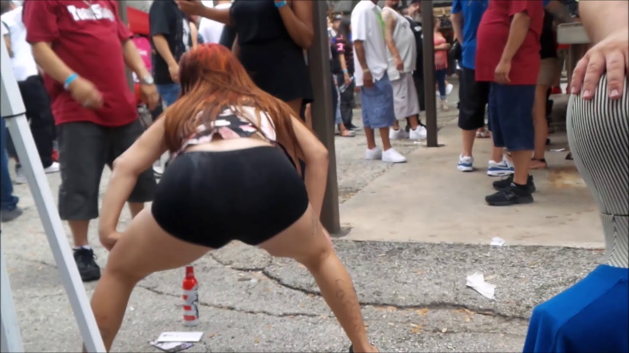 DRUNK LATINAS TWERK FOR RAPPERS AT CAR SHOW