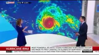 uk sky news report on hurricane irma as it hits anguilla and threatens virgin islands puerto rico