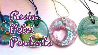 Resin & Alcohol Ink Petri Pendants | Watch Me