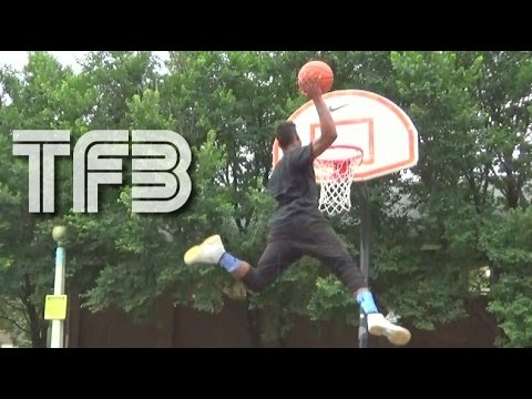 """5'10"""" Issac White has a 55"""" Vertical Leap! Highest Jumper in the World!"""