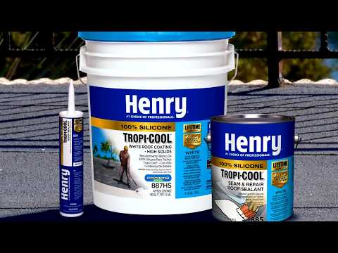 How To Apply Henry Tropi Cool 100 Silicone White Roof Coating Youtube