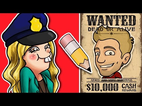 POLICE SKETCH ARTIST CHALLENGE - Collab with Jazza IN PERSON!