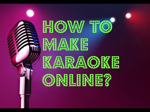 HowTo make karaoke via Vocal Remover Pro Online for free (HD)