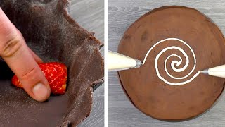 Halve 14 Oz Strawberries & Cover With Chocolate | Wait 50 Minutes & Decorate!