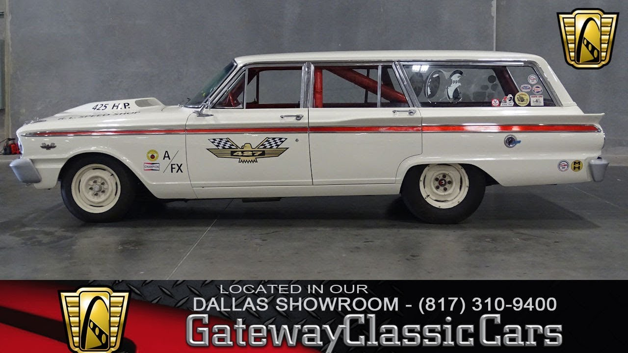 1963 Ford Fairlane Drag Wagon #741-DFW Gateway Classic Cars of Dallas