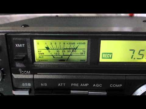 ICOM IC-735 on 7.550 MHz in AM - BROADCASTING RADIO STATION!!!
