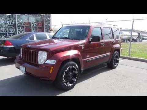 2008 JEEP LIBERTY ON CUSTOM 18 INCH BLACK OFFROAD RIMS U0026 TIRES