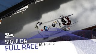 Sigulda | BMW IBSF World Cup 2019/2020 - 2-Man Bobsleigh Race 2 (Heat 2) | IBSF Official