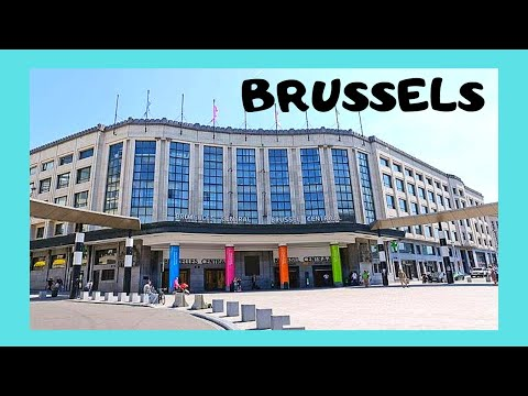 The BRUSSELS CENTRAL TRAIN STATION in BELGIUM