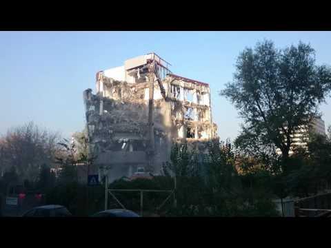 Building demolition in Bucharest - Pipera