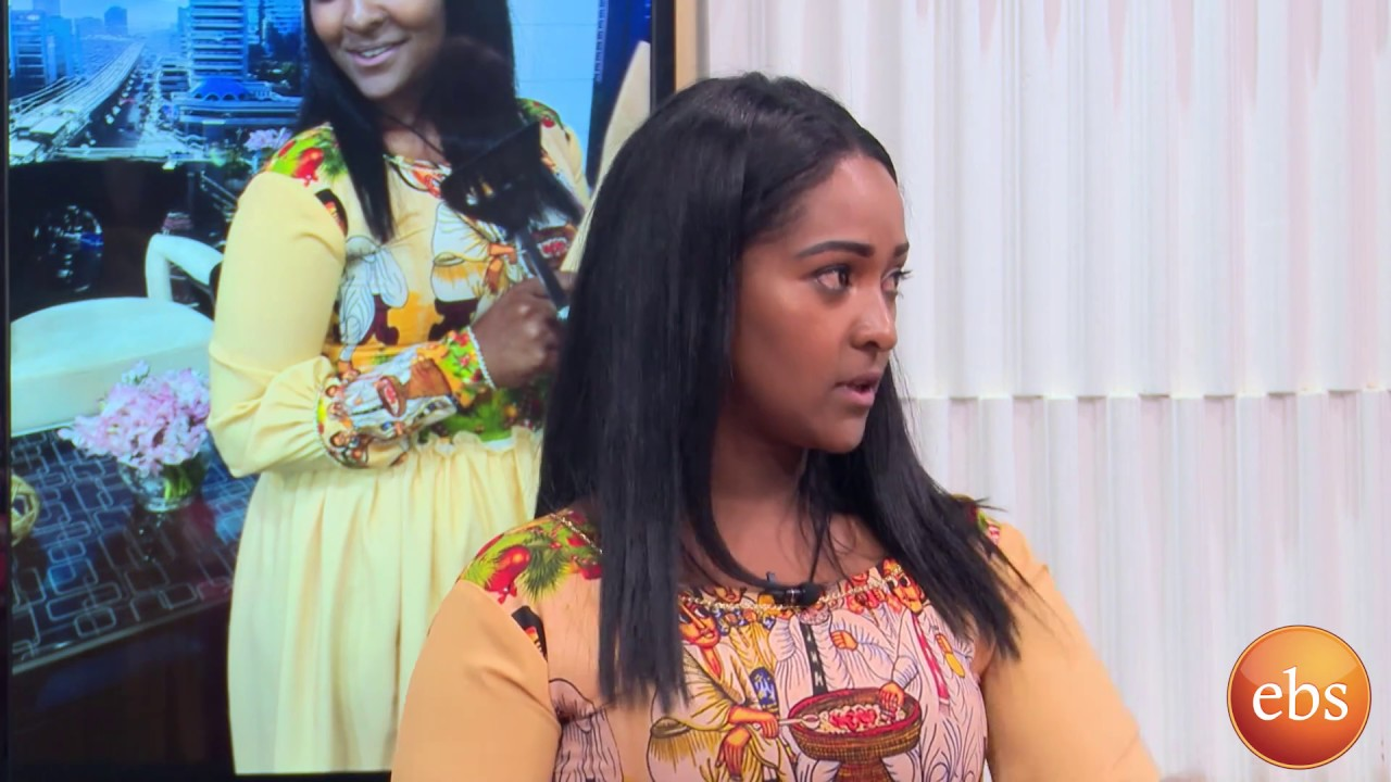 Ethiopian Amharic Drama Zemen Actress Biruktawit Samuael with Sunday with  EBS TV Cooking