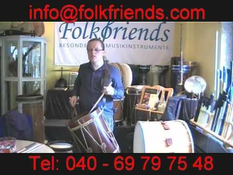 "Renaissance Drum 13,5/"" x 13,5/"" Landsknechtstrommel Natural"
