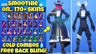 "NEW ""SMOOTHIE"" BACK BLING Showcased With 170+ SKINS! Fortnite Battle Royale (BEST SMOOTHIE COMBOS)"