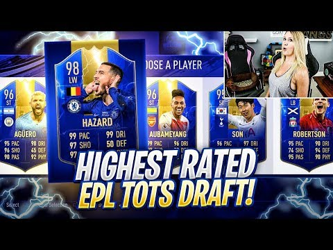 THE HIGHEST RATED EPL TOTS FUT DRAFT CHALLENGE!? FIFA 19 ULTIMATE TEAM