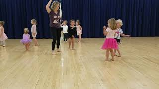 Violet's first dance lesson