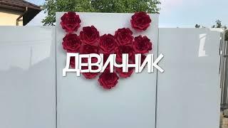 Оформление ДЕВИЧНИКА / ФОТОЗОНА ГЛЯНЕЦ / Цветы из бумаги