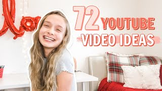 72 youtube video ideas that will BLOW UP your channel