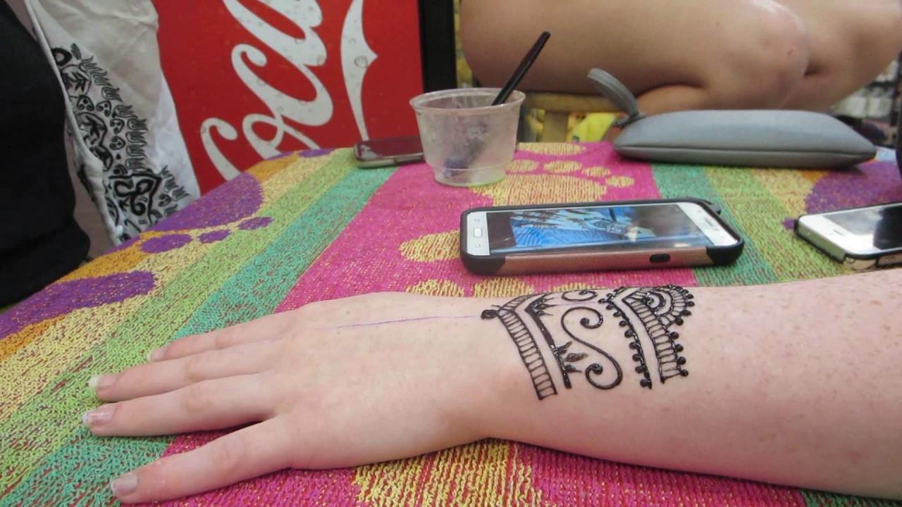 Henna Tattoo Timelapse In Pensacola Florida Youtube