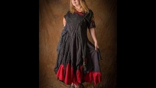 Making a black wedding gown / gothic valentine's dress