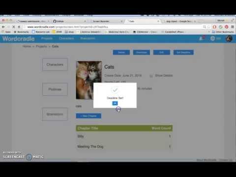 Free Novel Writing Software Tutorial: Wordcradle Tutorial