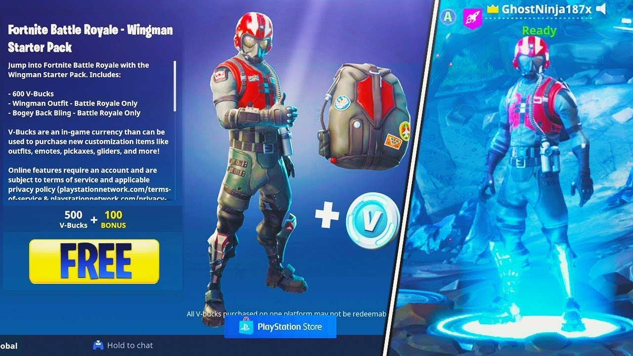 how to get new wingman skin free v bucks pack fortnite wingman starter pack new fortnite - free fortnite accounts with skins and vbucks