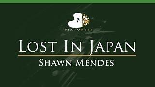 Shawn Mendes - Lost In Japan - LOWER Key (Piano Karaoke / Sing Along)