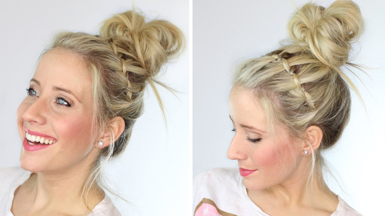 How To Waterfall Messy Bun