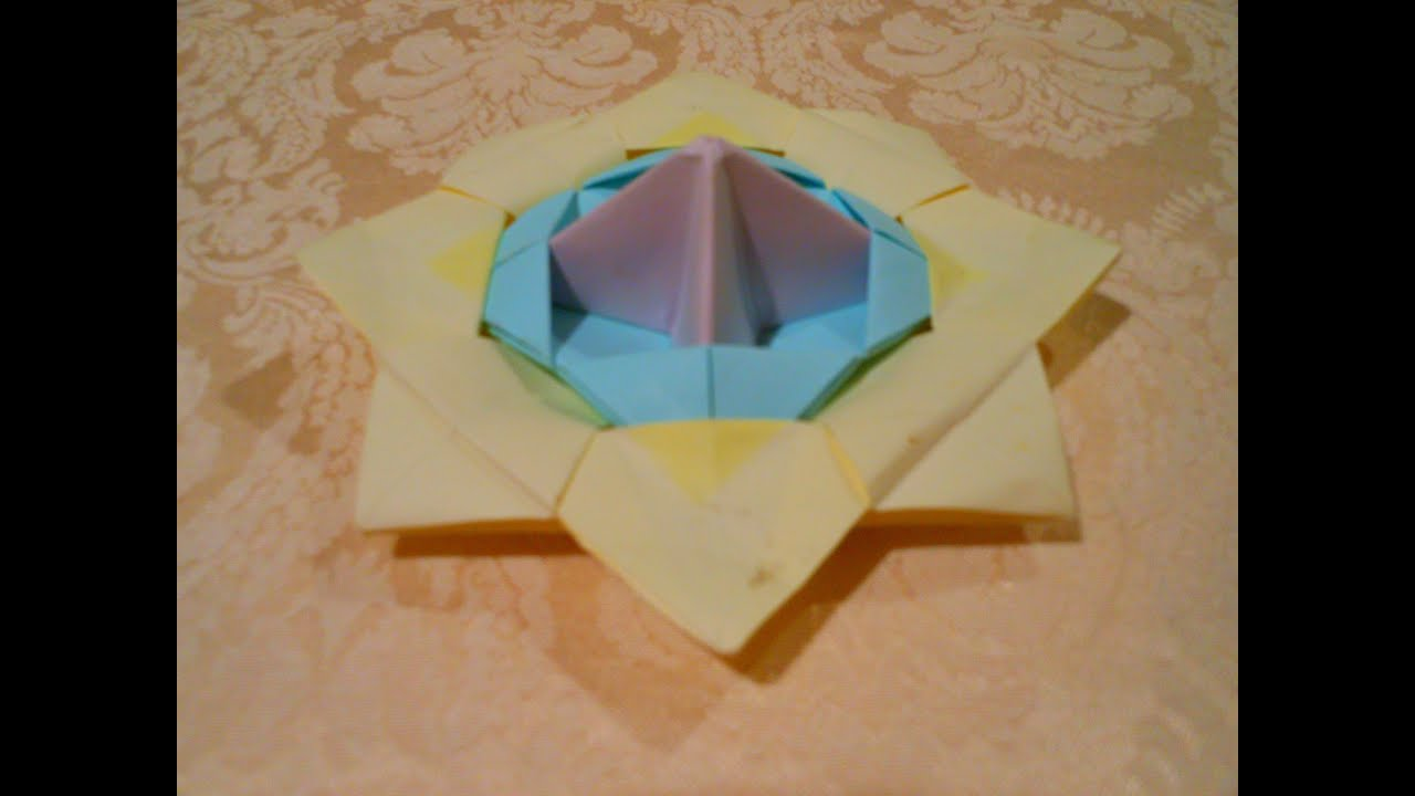 origami spinning tophd youtube