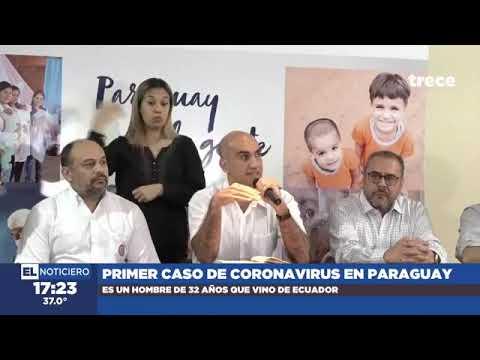 Primer caso de coronavirus en Paraguay