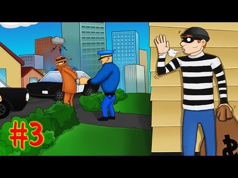 ВОРИШКА БОБ [3] ПОЛИЦЕЙСКАЯ ЗАСАДА Игровой мультик для детей первая ВСТРЕЧА С СОБАЧКАМИ Robbery Bob