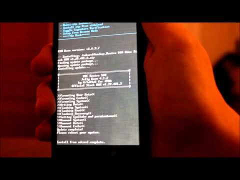 Видео Android system recovery screen